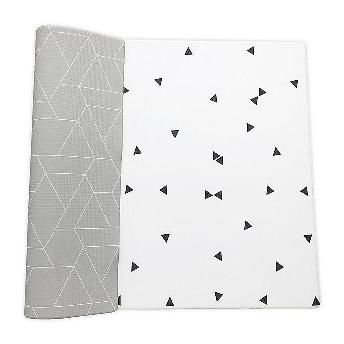 Alternate image 1 for Ofie Mat by Little Bot Reversible Foam Playmat in Zen Line/Triangle