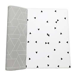 Ofie Mat by Little Bot Reversible Foam Playmat in Zen Line/Triangle