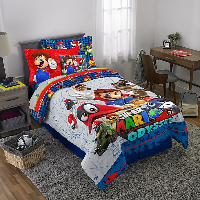 Alternate image 1 for Super Mario 3-Piece Reversible Bedding Set
