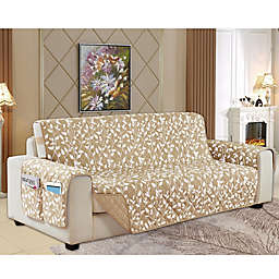 Leaf Reversible Oversized Sofa Cover in Cream