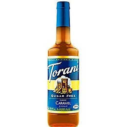 Torani 750 mL Sugar Free Classic Caramel Syrup