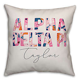 Designs Direct Greek Sorority Floral Square Throw Pillow
