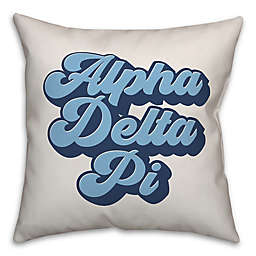 Designs Direct Greek Sorority Square Throw Pillow Collection