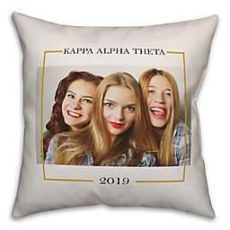 Designs Direct Greek Sorority Photo Square Throw Pillow Collection