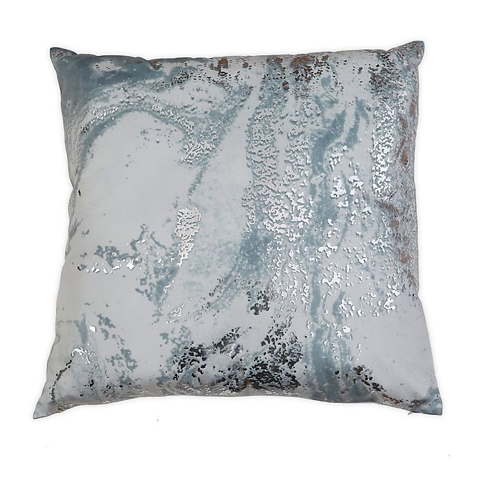 Alternate image 1 for Myles Foil Printed Velvet Square Throw Pillow