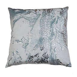 Myles Foil Printed Velvet Square Throw Pillow