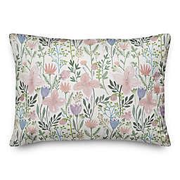 Watercolor Wildflowers 14x20 Spun Poly Pillow