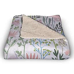 Wildflowers  50x60 Sherpa Fleece Throw Blanket