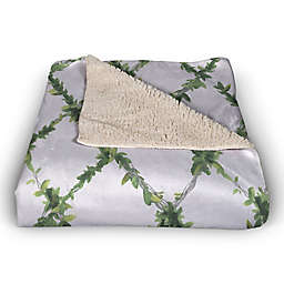 Ivy Lattice  50x60 Sherpa Fleece Throw Blanket