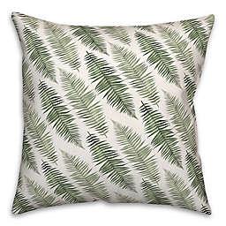 Watercolor Ferns 18x18 Spun Poly Pillow