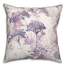 Purple Spring Wildflowers 18x18 Spun Poly Pillow