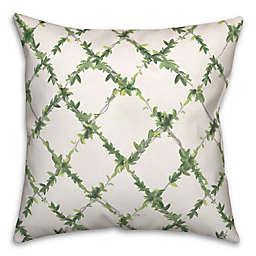 Green Ivy Lattice 18x18 Spun Poly Pillow