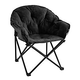 SALT™ Foldable Lounge Club Chair in Black Grid