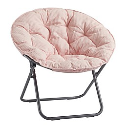 SALT™ Foldable Waffle Saucer Chair in Blush
