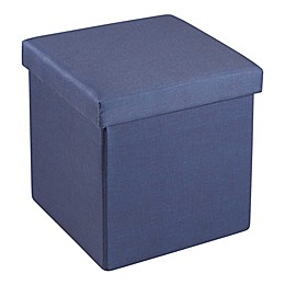 SALT™ 15-Inch Folding Storage Ottoman with Tray