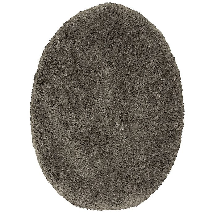 Alternate image 1 for Wamsutta® Aire Elongated Toilet Lid Cover in Charcoal
