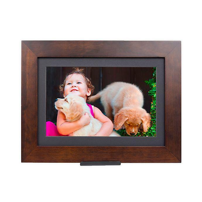Alternate image 1 for Brookstone® PhotoShare Friends and Family Medium Smart Frame in Espresso