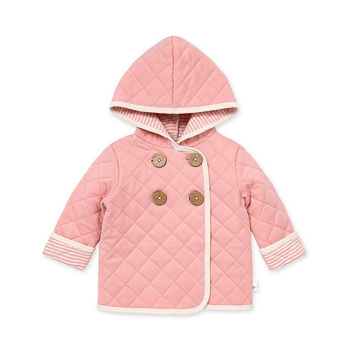 Alternate image 1 for Burt's Bees Baby® Quilted Coat in Rose Quartz
