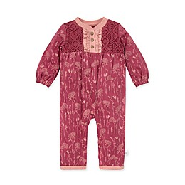 Burt's Bees Baby® Wild Flower Picks Organic Cotton Jumpsuit in Raspberry