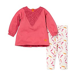 Burt's Bees Baby® Crochet Tunic & Legging Set in Morning Mist