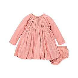 Burt's Bees Baby® Pointelle Bubble Dress and Diaper Cover Set in Rose Quartz