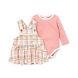 Burt's Bees Baby® Cozy Harvest Plaid Dress and Bodysuit Set