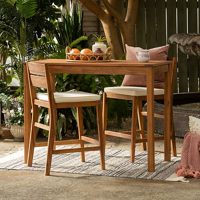 Alternate image 1 for Forest Gate Olympus Acacia Wood Outdoor Furniture Collection