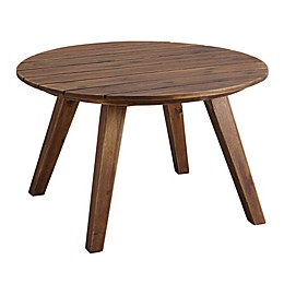 Forest Gate 30-Inch Round Acacia Wood Patio Coffee Table
