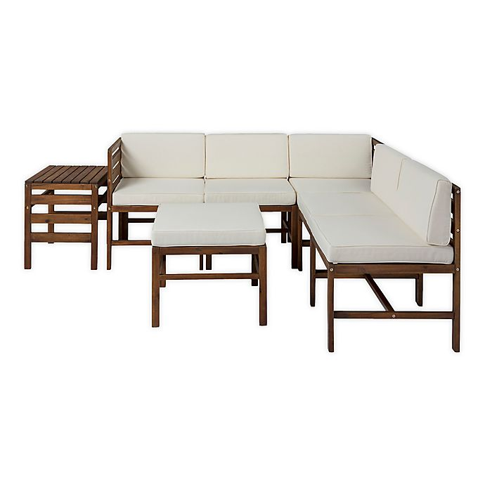 Alternate image 1 for Forest Gate™ 7-Piece Modular Acacia Wood Patio Sectional Set