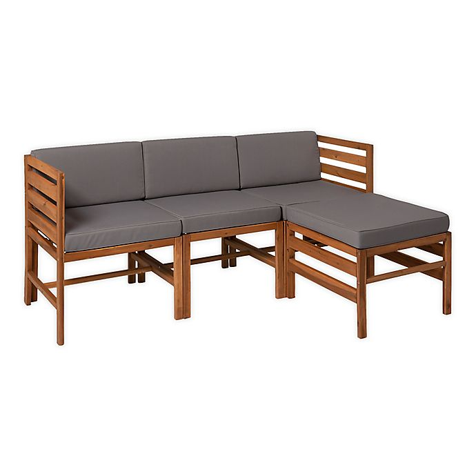 Alternate image 1 for Forest Gate™ 4-Piece Modular Acacia Wood Patio Sectional Set