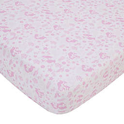 Disney® Little Mermaid Ariel Cute by Nature Fitted Crib Sheet in Pink
