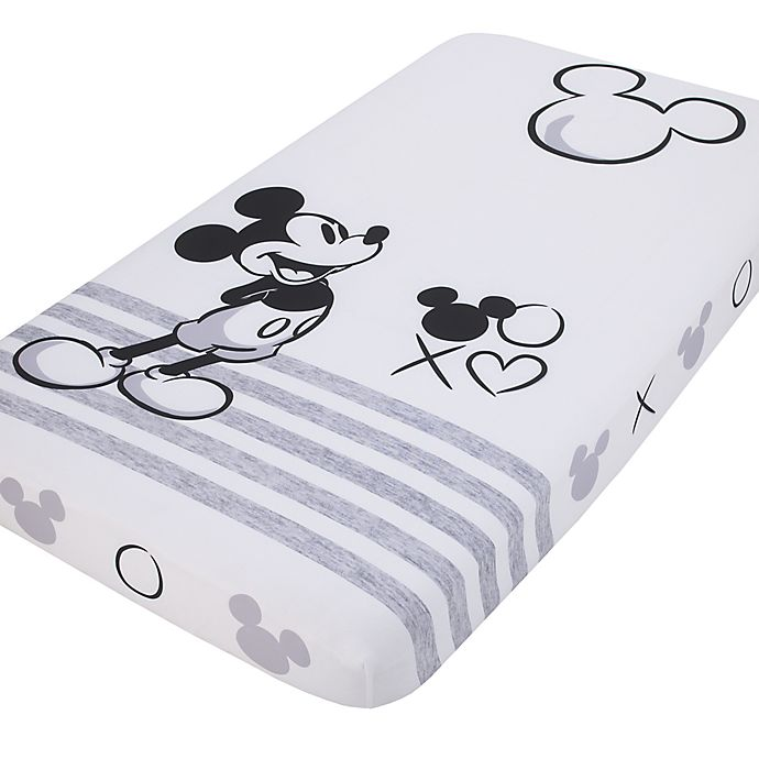 Alternate image 1 for Disney® Mickey Mouse Photo Op Fitted Crib Sheet in Black