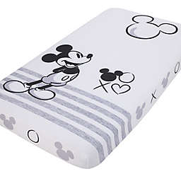 Disney® Mickey Mouse Photo Op Fitted Crib Sheet in Black