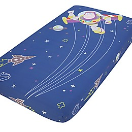 Disney® Buzz Lightyear Photo Op Fitted Crib Sheet in Blue