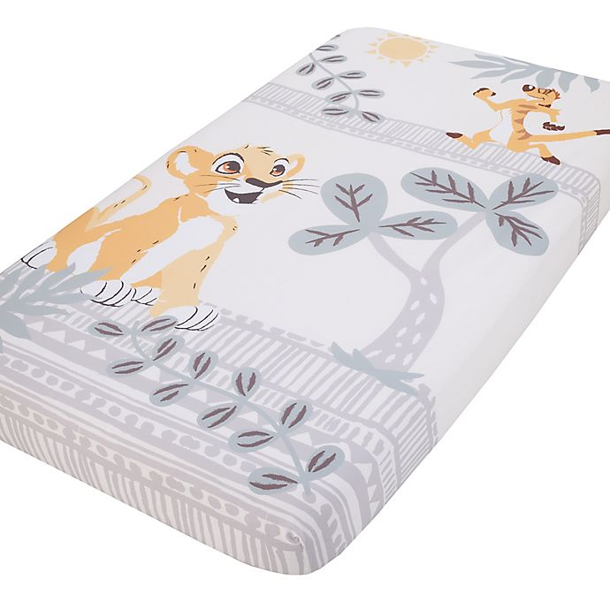 Alternate image 1 for Disney® Lion King Photo Op Fitted Crib Sheet in Gold