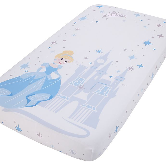 Alternate image 1 for Disney® Princess Cinderella Photo Op Fitted Crib Sheet in Blue