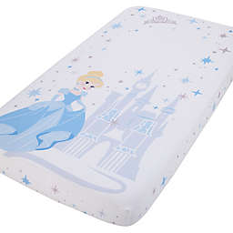 Disney® Princess Cinderella Photo Op Fitted Crib Sheet in Blue