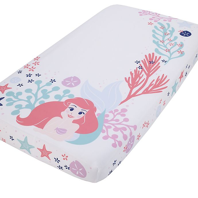 Alternate image 1 for Disney® Little Mermaid Ariel Photo Op Fitted Crib Sheet in Coral