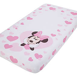 Disney® Minnie Mouse Photo Op Fitted Crib Sheet in Pink