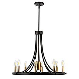 JONATHAN  Y Urbanna 9-Light Adjustable LED Chandelier in Black