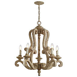 JONATHAN  Y Oria 5-Light Adjustable LED Chandelier in Brown