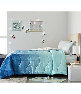 Set de edredón individual de poliéster Wamsutta® Puffer color azul