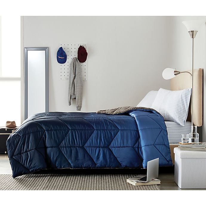 Alternate image 1 for Wamsutta® Collective Puffer 4-Piece Full/Full XL Comforter Set in Navy