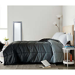 Wamsutta® Puffer 3-Piece Twin/Twin XL Comforter Set in Grey/Black
