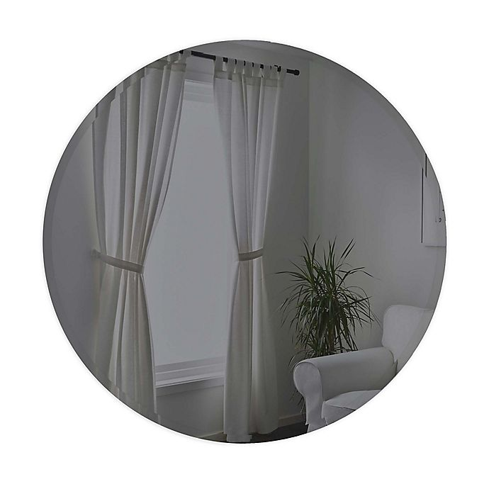 Alternate image 1 for Umbra® Hub 36-Inch Beveled Round Wall Mirror