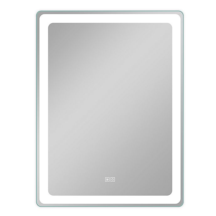 Alternate image 1 for NeuType 40-Inch x 32-Inch Smart Backlit LED Illuminated Anti-Fog Wall Mirror in Silver