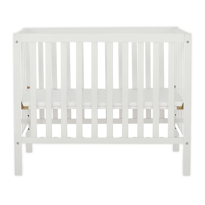 Alternate image 1 for Dream On Me Edgewood 4-in-1 Convertible Mini Crib in White
