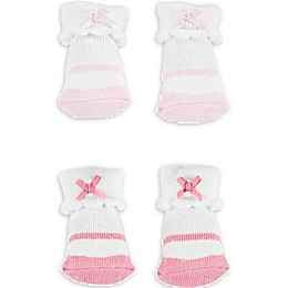 carter's® Newborn 2-Pack Ballet Keepsake Booties in Pink