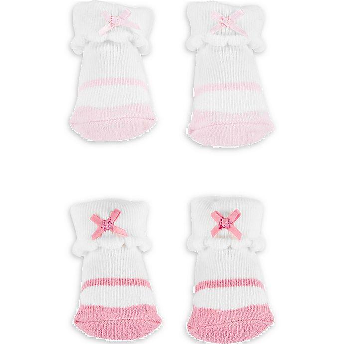 Alternate image 1 for carter's® Newborn 2-Pack Ballet Keepsake Booties in Pink