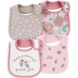carter's® 4-Pack Bunny Floral Bibs